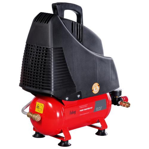 Компрессор безмасляный Fubag Paint Master Kit, 6 л, 1.1 кВт компрессор безмасляный fubag house master kit 24 л 1 1 квт