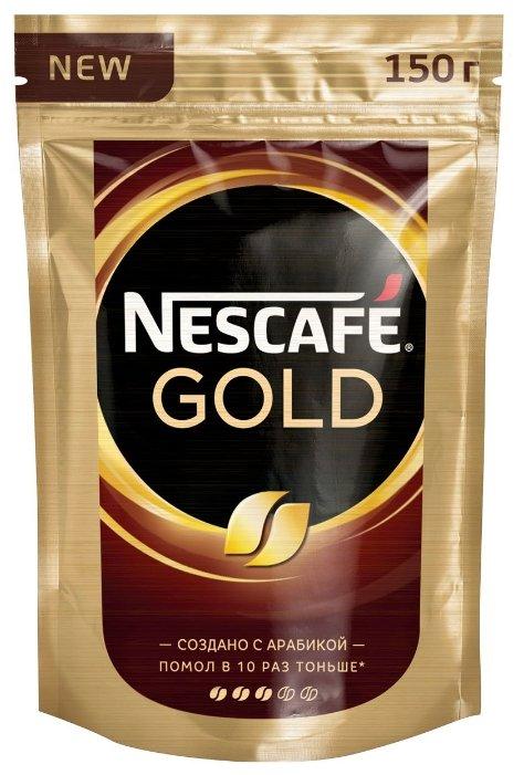 Купить Кофе растворимый Nescafe Gold, пакет, 150 г по низкой цене с доставкой из маркетплейса Беру