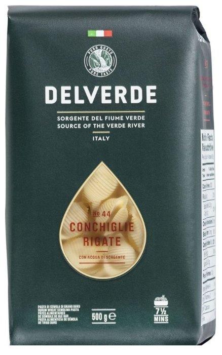 Delverde Industrie Alimentari Spa Макароны 44 Conchiglie Rigate, 500 г