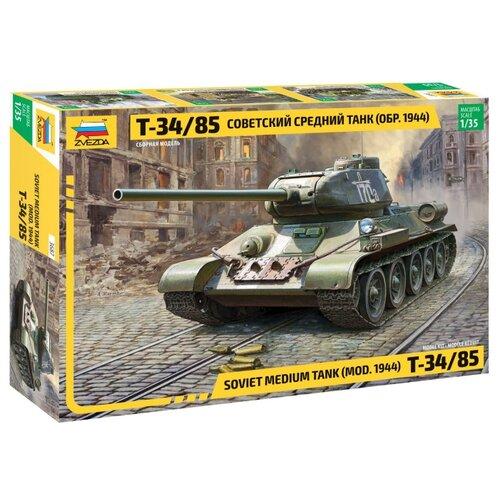 Купить Сборная модель ZVEZDA Советский средний танк Т-34/85 (3687) 1:35, Сборные модели