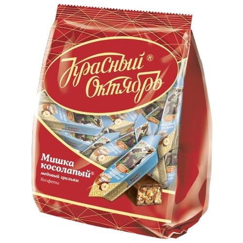 Конфеты Красный Октябрь Мишка косолапый медовый грильяж, пакет, 200 г недорого