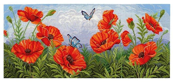 Сделай своими руками Набор для вышивания крестиком Торжество цветов. Маки 55 х 24 см (Т-09)