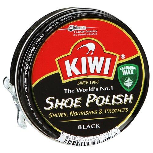 Kiwi Shoe Polish крем в банке черный жидкий крем блеск kiwi