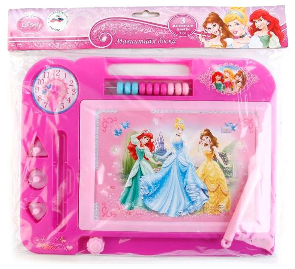 Доска для рисования детская Играем вместе Дисней Принцессы (HS907-R)