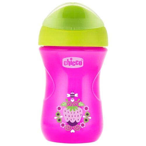 Купить Поильник Chicco Easy Cup, 266 мл розовый/зеленый, Поильники