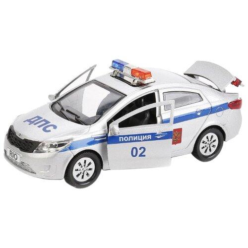 Купить Легковой автомобиль ТЕХНОПАРК Kia Rio Полиция (RIO-POLICE) 12 см белый, Машинки и техника