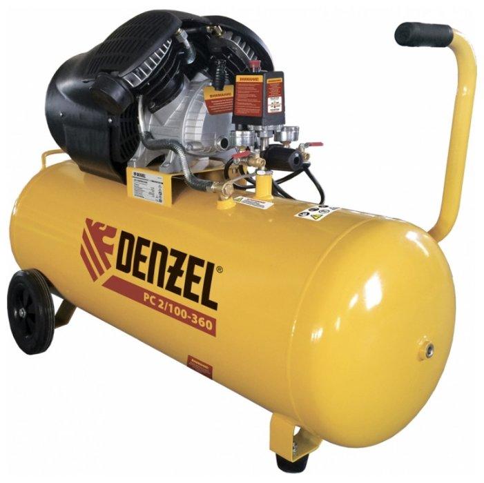 Компрессор масляный Denzel PC 2/100-360, 100 л, 2.3 кВт