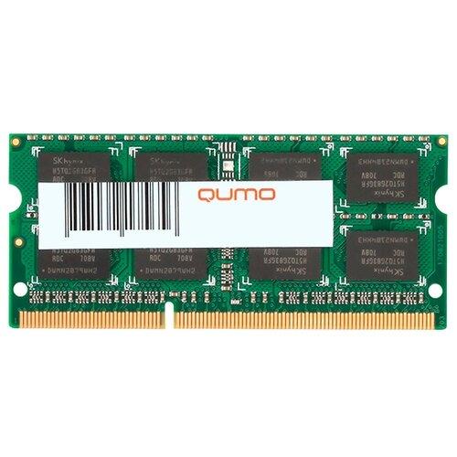 Фото - Оперативная память Qumo 4GB DDR3 1600MHz SODIMM 204-pin CL11 QUM3S-4G1600K11 модуль памяти qumo 4gb ddr3 1600mhz sodimm 204pin cl11 qum3s 4g1600c11