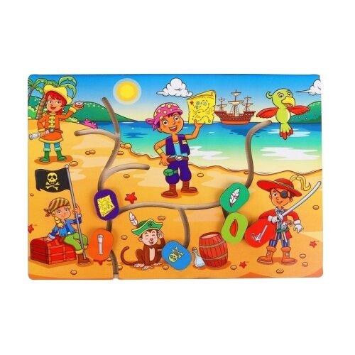 Головоломка Мастер игрушек Лабиринт Дети-пираты (IG0186) коричневый/синий/красныйГоловоломки<br>