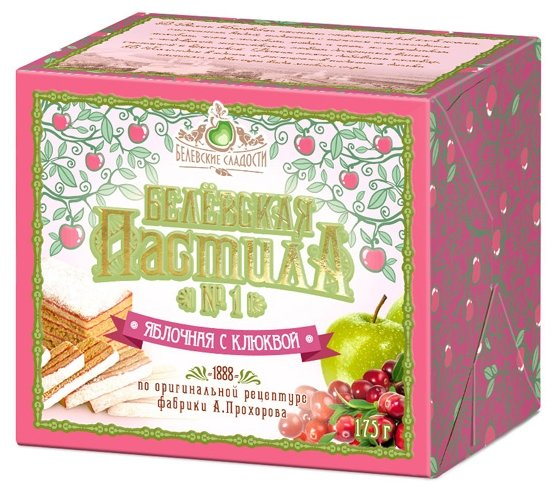 Пастила Белевские сладости Белёвская яблочная с клюквой 175 г