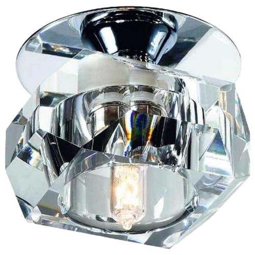 Встраиваемый светильник Novotech Vetro 369299, хром / прозрачный встраиваемый спот точечный светильник novotech vetro 369511