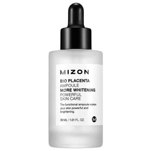 Mizon Bio Placenta Ampoule Ампульная осветляющая сыворотка для лица с экстрактом плаценты, 30 мл сыворотка осветляющая с фильтратом дрожжей whitening ampoule 30 мл the saem galactomyces