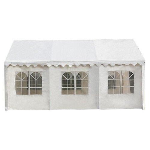 Шатер Афина-Мебель AFM-1026W, со стенками, 6 х 4 х 3 м белый