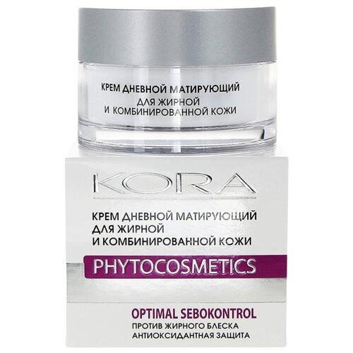 Kora Phytocosmetics Крем дневной матирующий для лица для жирной и комбинированной кожи, 50 мл акномега 100 крем для жирной комбинированной кожи exfoliac 30 мл