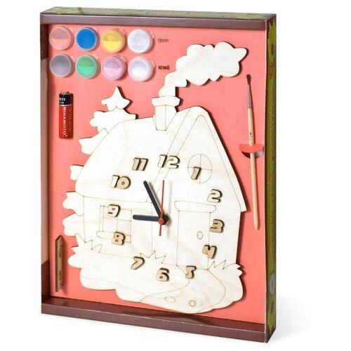 Нескучные игры Набор для росписи Часы с циферблатом Домик (ДНИ113) нескучные игры набор для росписи часы с циферблатом домик дни113