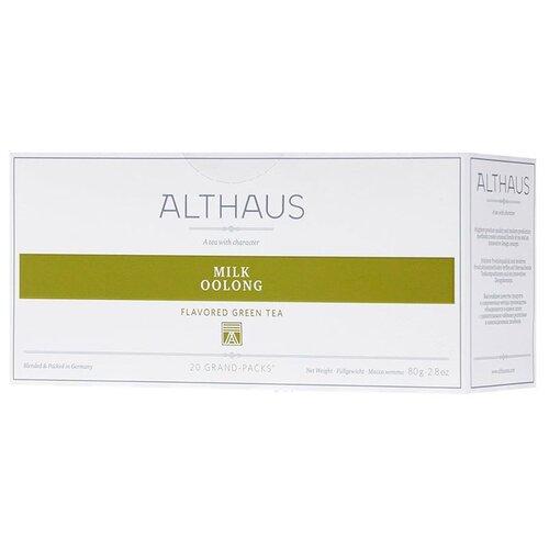 Фото - Чай улун Althaus Milk Oolong в пакетиках для чайника, 80 г 20 шт. чай в пакетиках фиточаи байкальские женский лечебный с боровой маткой 20 шт по 1 5 г