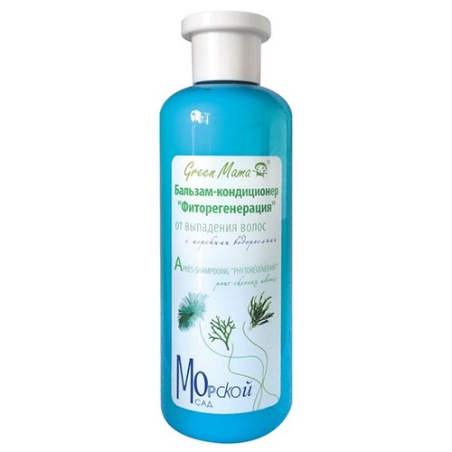 Green Mama бальзам-кондиционер Морской сад Фиторегенерация от выпадения волос с морскими водорослями, 400 млОполаскиватели<br>