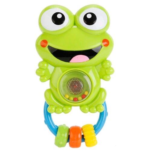 Фото - Погремушка Умка Интерактивная WD3661 зеленая лягушка развивающая игрушка погремушка лягушка с шариками умка
