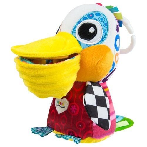 Купить Подвесная игрушка Lamaze Пеликанчик Филипп (L27518) красный/желтый/белый, Подвески