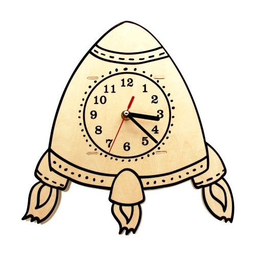 Robotime Набор для росписи Часы-конструктор Ракета-раскраска (AC229P)Роспись предметов<br>