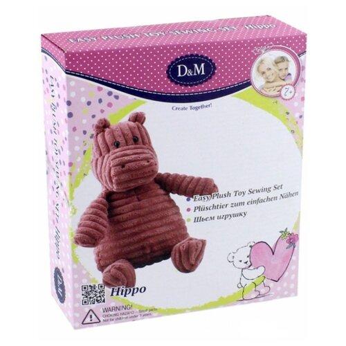Купить D&M Шьем игрушку Бегемотик (66794) коричневый, Изготовление кукол и игрушек