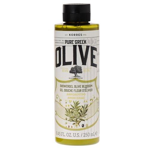 Гель для душа KORRES Olive blossom, 250 мл korres korres pure greek olive showergel honey гель для душа с медом 250 мл