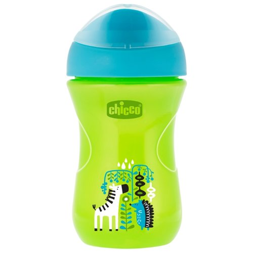 Поильник Chicco Easy Cup, 266 мл зеленый/голубой
