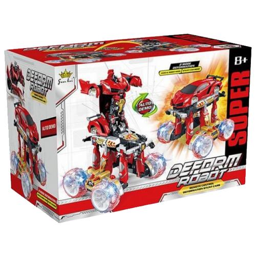 Купить Робот-трансформер Shantou Gepai Робот-машина р/у 200091276 красно-черный, Роботы и трансформеры