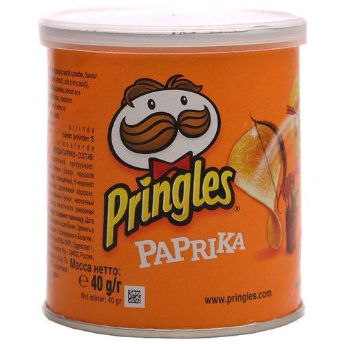 Чипсы Pringles картофельные Paprika, 40 г чипсы pringles картофельные crab 70 г