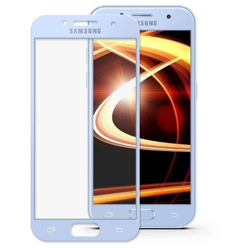 Защитное стекло Mobius 3D Full Cover Premium Tempered Glass для Samsung Galaxy A5 2017 голубой
