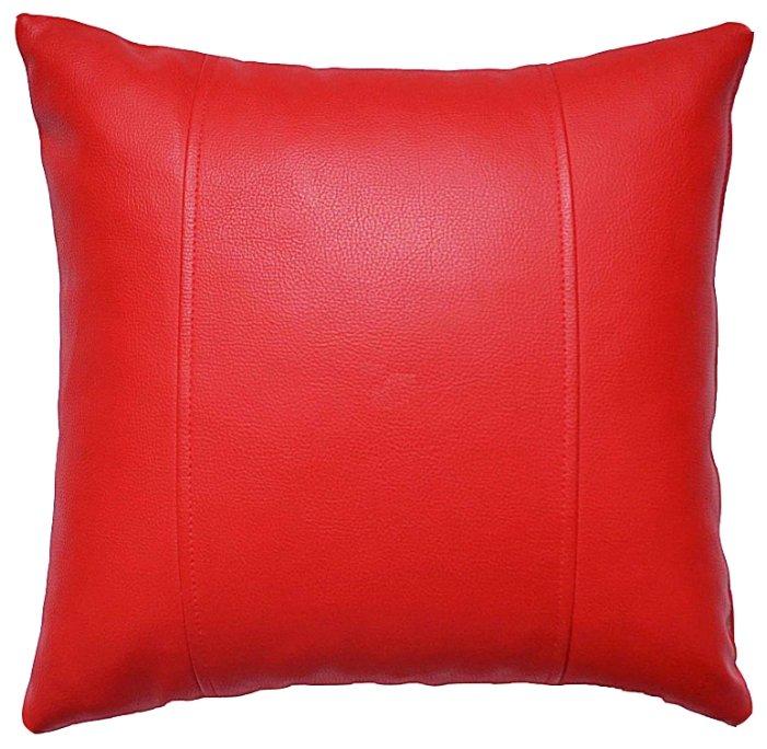 Подушка декоративная MyPuff из экокожи 45 х 45 см красный