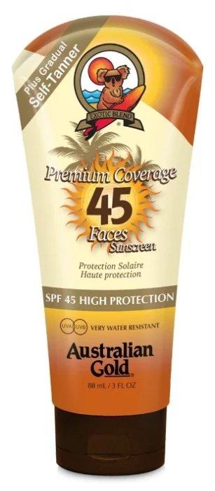 Australian Gold лосьон Premium Coverage Faces Bronzer SPF 45