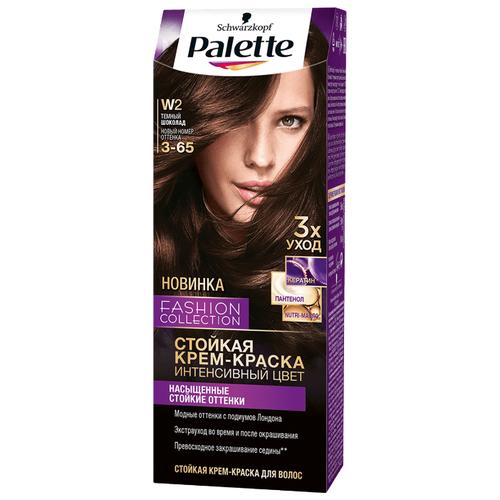 Palette Fashion Collection стойкая крем-краска для волос, W2 3-65 Темный шоколадКраска<br>