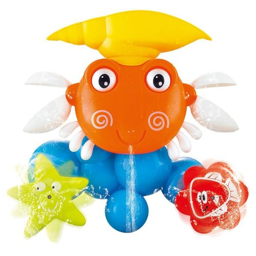 Купить Игрушка для ванной MY ANGEL Крабик MA351603152 оранжевый/синий/желтый, Игрушки для ванной