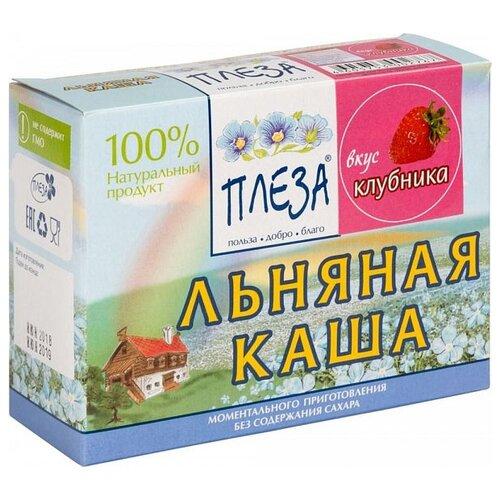 Фото - ПЛЕЗА Каша льняная вкус Клубника (коробка), 200 г беби ситтер каша ячменная с 4 месяцев 200 г