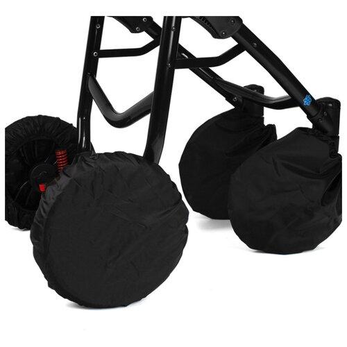 Купить Noordline Чехлы на поворотные колеса 122 черный, Аксессуары для колясок и автокресел