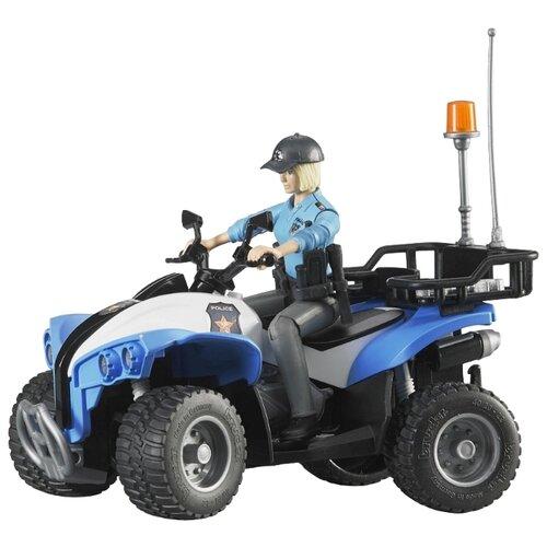 Купить Квадроцикл Bruder Police-Quad (63-010) с фигуркой 1:16 16 см, Машинки и техника
