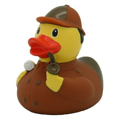 Купить Игрушка для ванной FUNNY DUCKS Детектив уточка (1883) коричневый, Игрушки для ванной