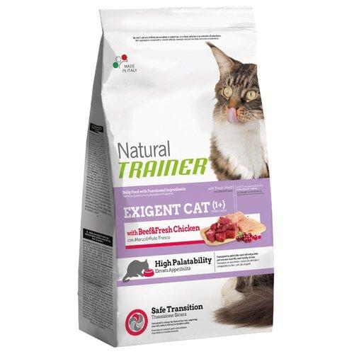 Корм для кошек TRAINER Natural Exigent Cat with Beef&Fresh Chicken 1.5 кг