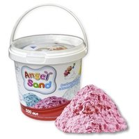 Кинетический песок Angel Sand Базовый розовый 0.5 л пластиковый контейнер