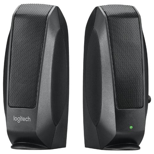 Компьютерная акустика Logitech S120 черный  - купить со скидкой