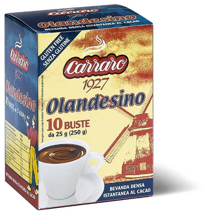 Carraro Olandesino Шоколад растворимый в пакетиках, 10 шт.