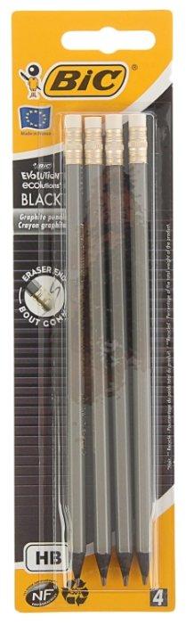 BIC Набор чернографитных карандашей Evolution Black 4 шт (918483)