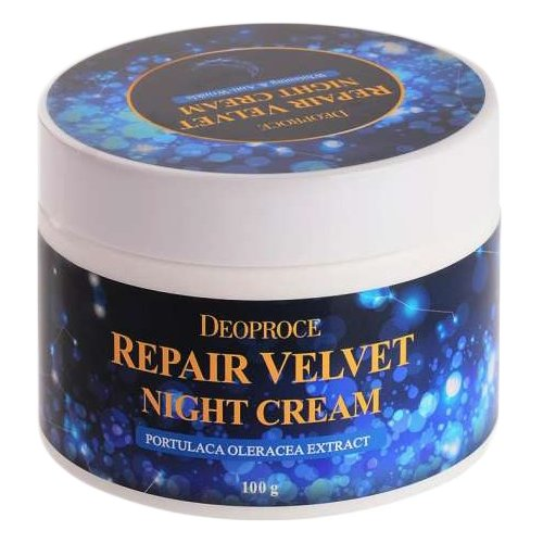 Deoproce Repair Velvet Night Cream Крем для лица ночной восстанавливающий, 100 г