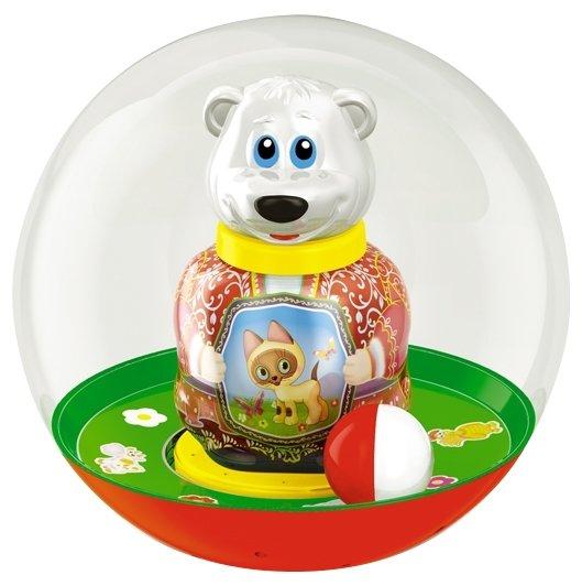 Неваляшка Стеллар Медведь Митя в шаре в ассортименте, упаковка пакет (01707)