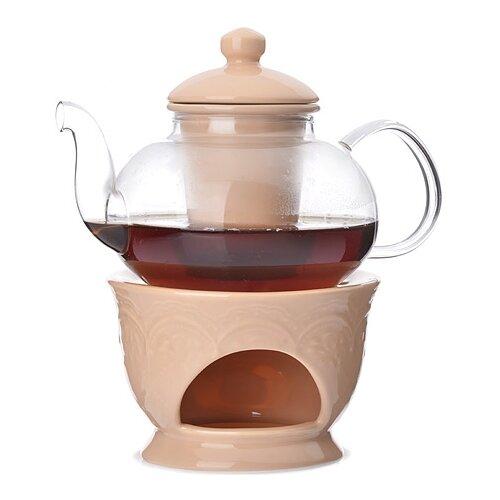 MAYER & BOCH Заварочный чайник 27563/27564/27565/27566/27567 600 мл прозрачный/бежевый mayer boch чайник электрический 1 8л 1500вт zm 10967
