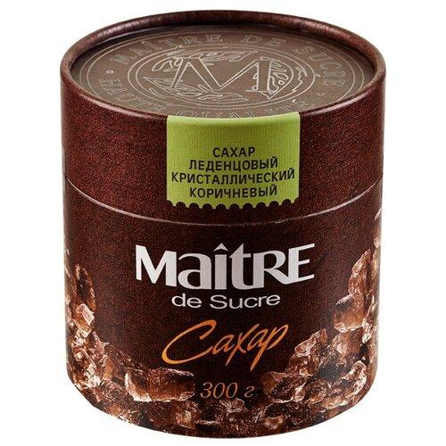 Сахар Maitre Леденцовый коричневый, картонная упаковка 0.3 кг