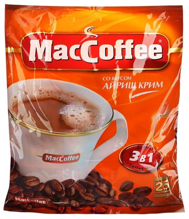 Растворимый кофе MacCoffee Айриш Крим 3 в 1, в пакетиках