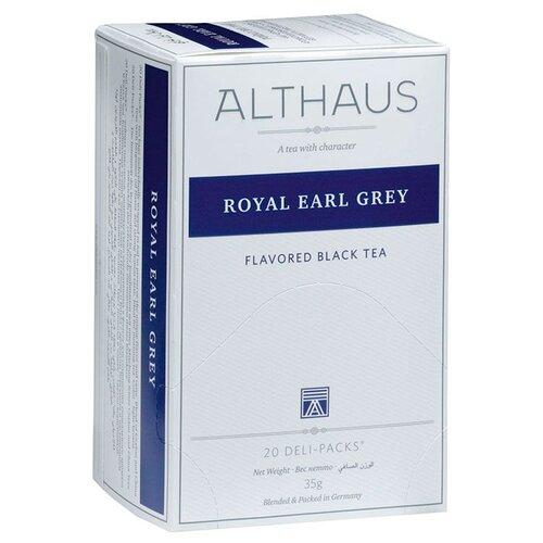 Фото - Чай черный Althaus Royal Earl Grey в пакетиках, 35 г 20 шт. чай в пакетиках фиточаи байкальские женский лечебный с боровой маткой 20 шт по 1 5 г