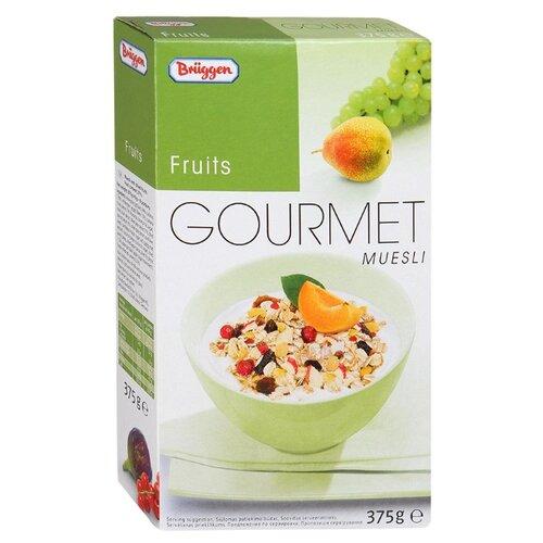 Мюсли Bruggen Gourmet хлопья фруктовые, коробка, 375 г